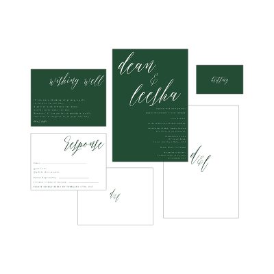 GREEN CALLIGRAPHY PACKAGE