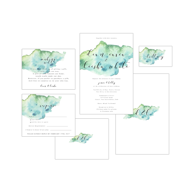 BLUE WATERCOLOUR PACKAGE